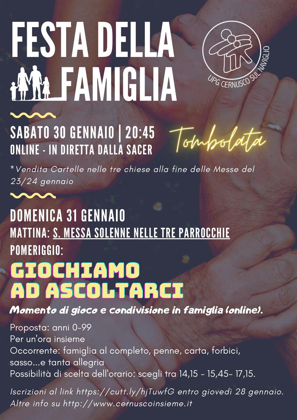 FESTA DELLA FAMIGLIA 2020. INSIEME