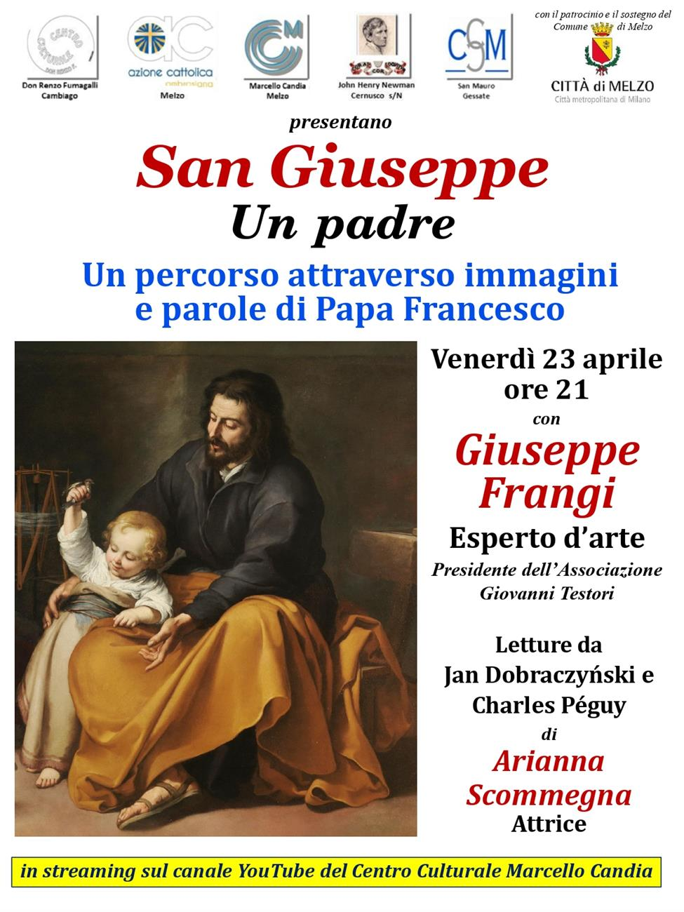SAN GIUSEPPE, UN PADRE – Venerdì 23 aprile 2021 ore 21 - Canale Youtube CCCandia